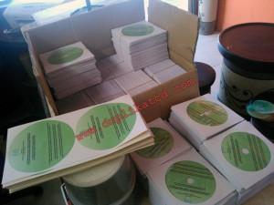 Pesanan CD 1000 keping kirim Jakarta